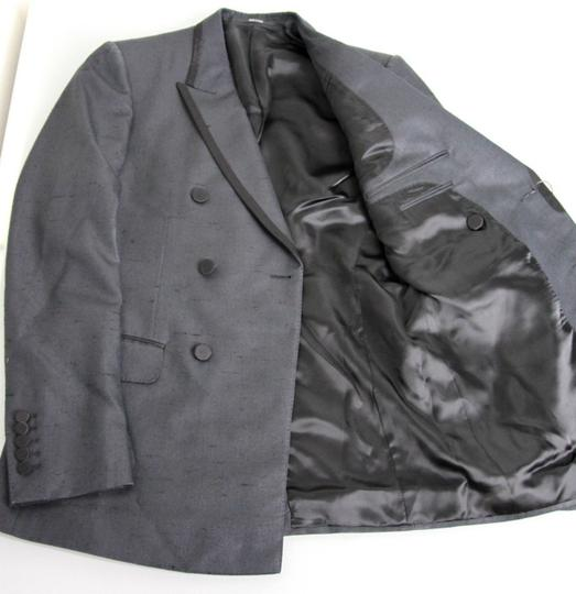 Gucci Charcoal New Silk Double Breasted Jacket Blazer Eu 46/ Us 36 293038 Groomsman Gift Image 5