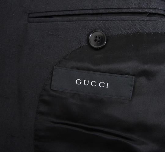 Gucci Charcoal New Silk Double Breasted Jacket Blazer Eu 46/ Us 36 293038 Groomsman Gift Image 7