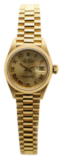 Rolex Rolex Datejust 18k Yellow Gold Champagne Dial Ladies Presidential Watch