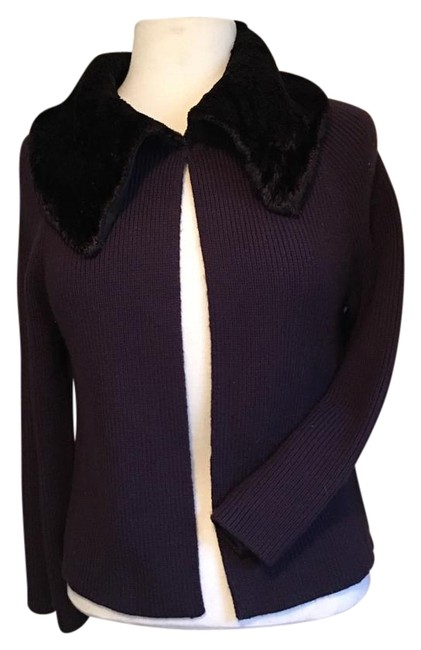 Preload https://img-static.tradesy.com/item/20088589/nine-west-plum-faux-fur-collar-ribbed-long-sleeve-cardigan-size-8-m-0-1-650-650.jpg