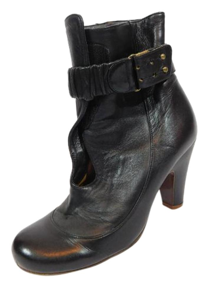 Chie Mihara Black Leather Ankle Boots/Booties Boots/Booties Ankle ccf529