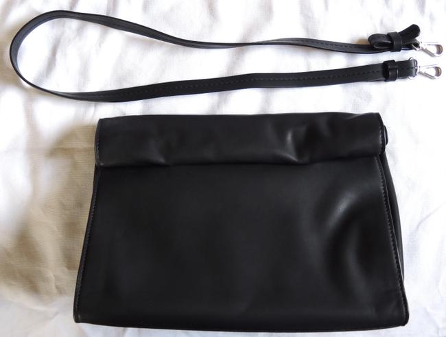 Item - Basic Black Faux Leather Messenger Bag