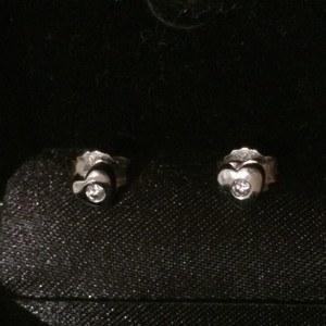 Other Silver Heart Shaped Earrings With Zirconias
