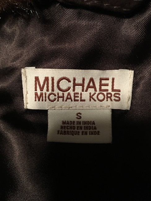 Michael Kors Silver Hardware Jean Brown suede leather Womens Jean Jacket Image 5