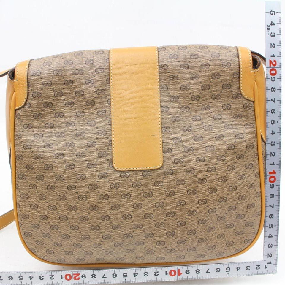 70805a9bc327 Gucci Vintage Purses/Designer Purses Brown Small G Logo Print Coated ...