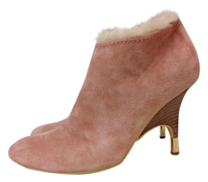 Giuseppe Zanotti Suede Ankle Size 40 Salmon Pink Boots