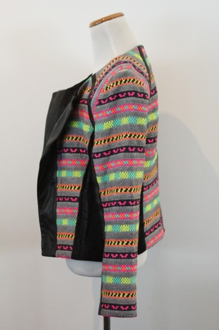 MILLY Tribal Neon Bright Colorful Multi-Color Blazer