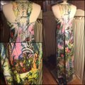 Black/Blue/Pink Maxi Dress by Other Image 2