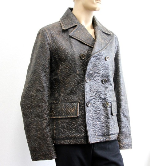 Gucci Brown W New Men's W/Shearling Lamb Fur Eu 50/ Us 40 299730 Groomsman Gift Image 2