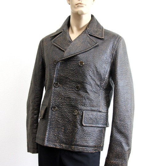 Gucci Brown W New Men's W/Shearling Lamb Fur Eu 50/ Us 40 299730 Groomsman Gift Image 4