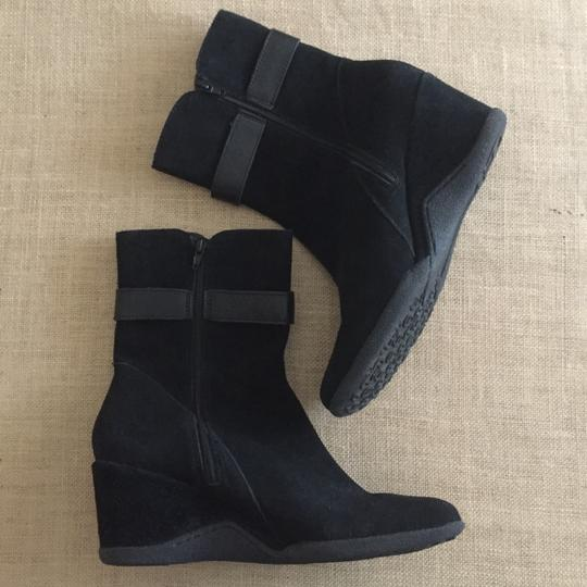 Etienne Aigner Suede Wedge Black Boots Image 1