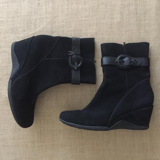 Etienne Aigner Suede Wedge Black Boots Image 3