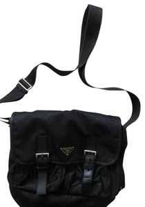 Prada Messenger Nero Tessuto Cross Body Bag