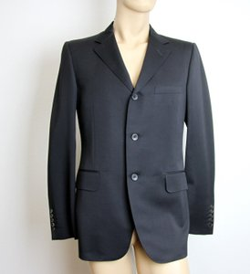 Gucci Black New Men's 3 Button Wool Suit Jacket 50r/ Us 40r 195593 Groomsman Gift