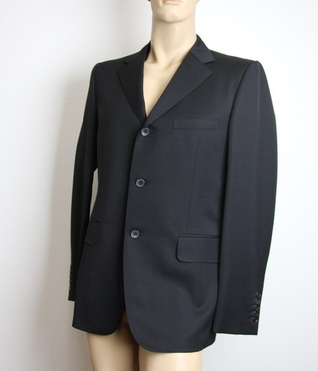 Gucci Black New Men's 3 Button Wool Suit Jacket 50r/ Us 40r 195593 Groomsman Gift Image 1
