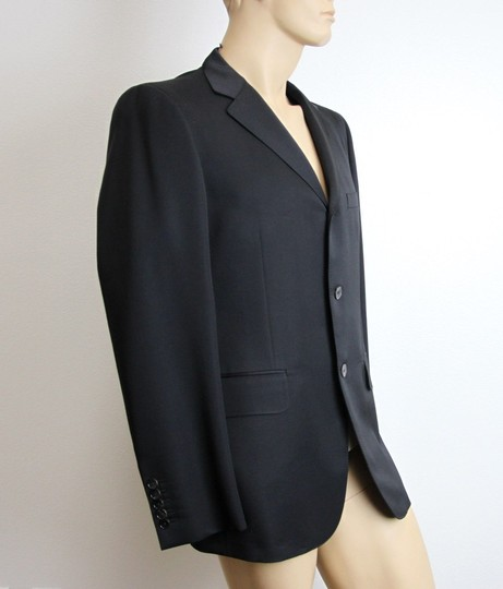 Gucci Black New Men's 3 Button Wool Suit Jacket 50r/ Us 40r 195593 Groomsman Gift Image 2