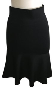ISSA London Fit And Flare Body Hugging Skirt Black