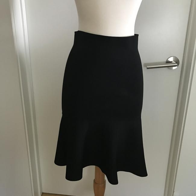 ISSA London Fit And Flare Body Hugging Skirt Black Image 1