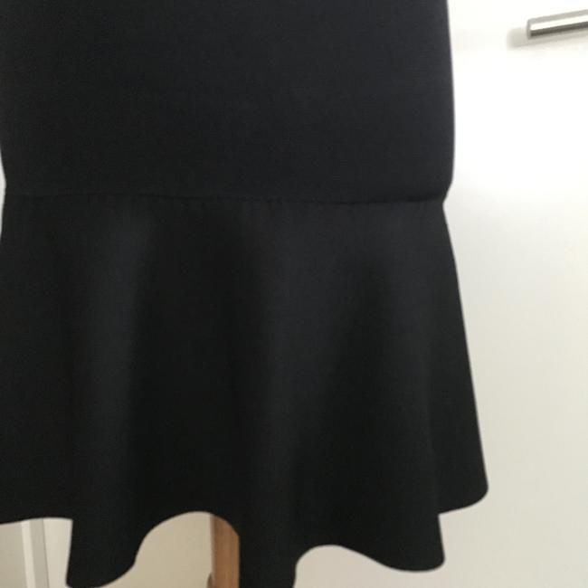 ISSA London Fit And Flare Body Hugging Skirt Black Image 2