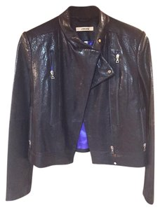 J Brand Moto Zippers Leather Motorcycle Jacket