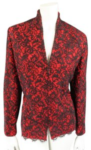 St. John Lace Vintage Evening Red Jacket