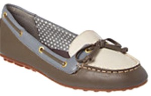 Sperry White, blue, brown Flats
