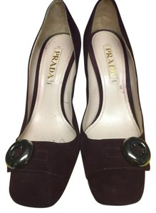 Prada Suede Burgendy Pumps
