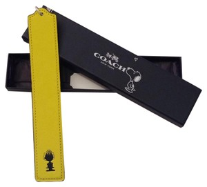 Coach COACH x PEANUTS leather bookmark