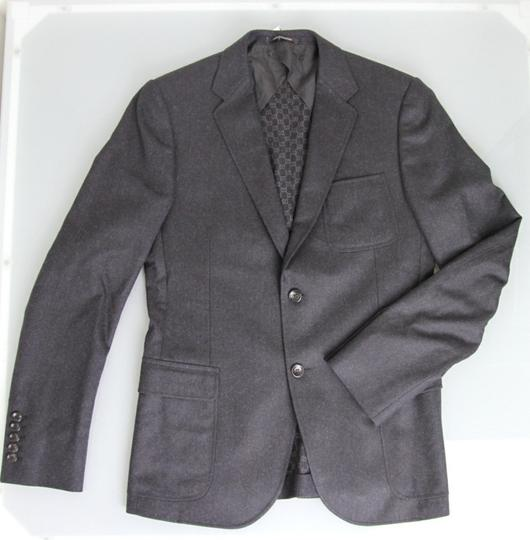 Gucci Charcoal New Men's Wool Coat Jacket Blazer Eu 54r/ Us 44r 265397 Groomsman Gift Image 4