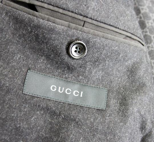 Gucci Charcoal New Men's Wool Coat Jacket Blazer Eu 54r/ Us 44r 265397 Groomsman Gift Image 5