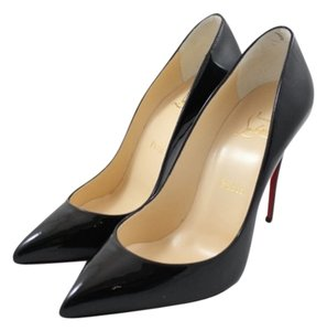 Christian Louboutin Pigalle Follies 100mm Patent Pointed Toe Low Cut Black Pumps