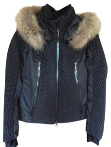Descente Technical Ski Apres-ski Fur Trim Coat