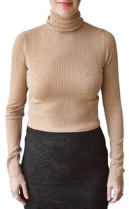 A.L.C. Turtleneck Ribbed Cropped Sweater