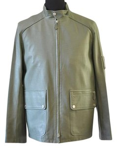 Herms green Leather Jacket