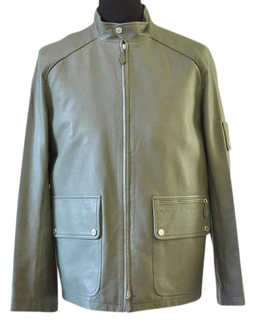 Preload https://img-static.tradesy.com/item/20089360/hermes-green-men-zip-up-leather-jacket-size-8-m-0-2-650-650.jpg