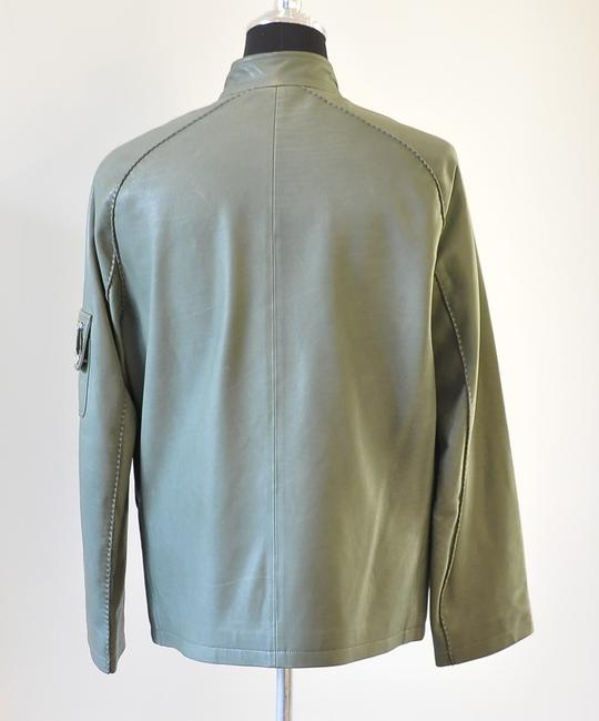 Hermès green Leather Jacket Image 3