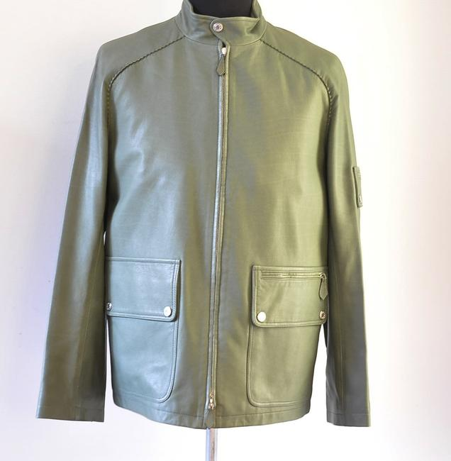 Hermès green Leather Jacket Image 5