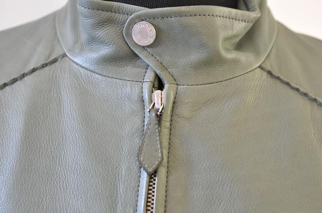 Hermès green Leather Jacket Image 6