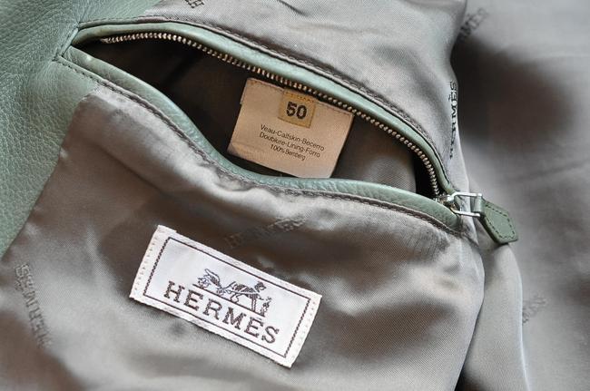 Hermès green Leather Jacket Image 7
