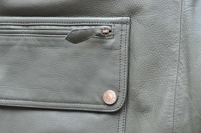 Hermès green Leather Jacket Image 8