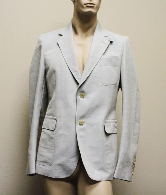 Item - Beige Blue Men's Coat Jacket Blazer 52r/ Us 42r 256516 Groomsman Gift