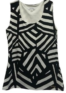 Calvin Klein Stretchy Top Black and White