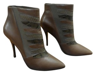 Brian Atwood Stiletto Grey/ Brown Boots