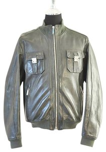 Dsquared2 green Leather Jacket