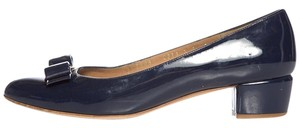 Salvatore Ferragamo Vara Blue Pumps