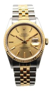 Rolex 16233 18k Men's yellow gold stainless steel dress watch automatic