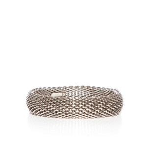Tiffany & Co. Tiffany & Co. Sterling Silver Mesh Somerset Bangle