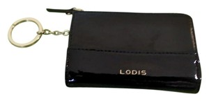 Lodis Lodi's Patent Leather Key Ring Change Purse/ Commuter Pass Holder