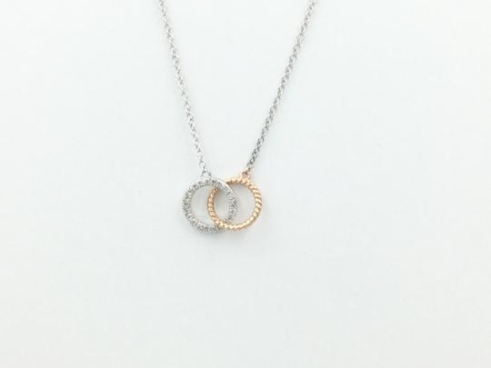 Other .08Ct Diamond White & Rose Gold Pendant on a 17