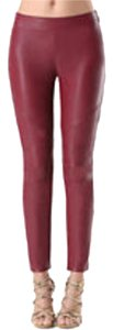 bebe red maroon Leggings